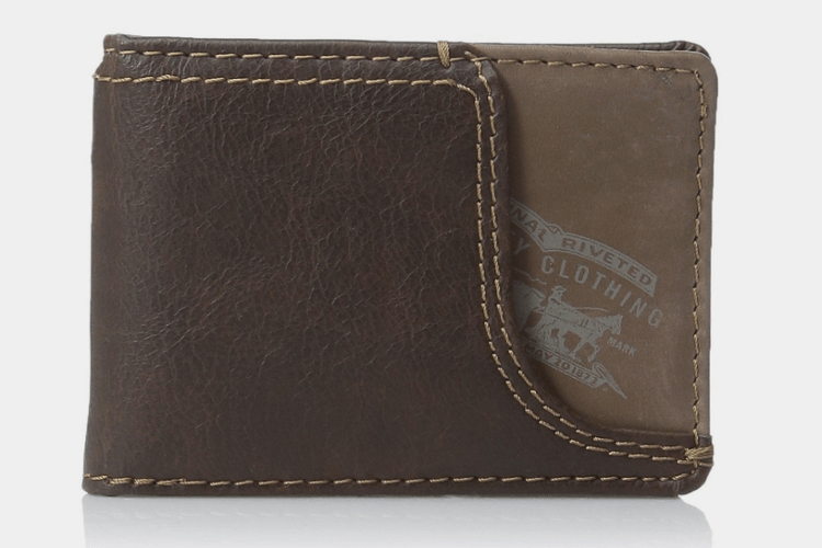 Slim Front Pocket Money Clip Wallet by Levi's