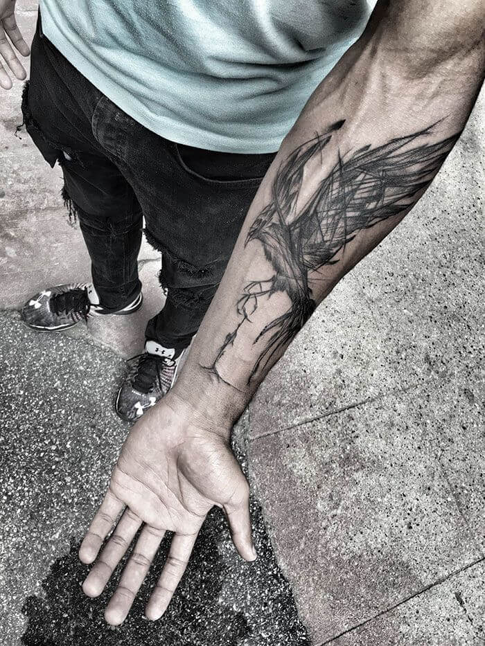 9a36055d6 109 Best Phoenix Tattoos for Men | Rise From The Flames | Improb