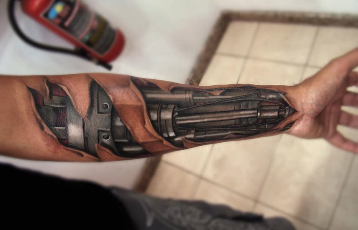 171adbc6a Top 80 Best BioMechanical Tattoos for Men | Improb
