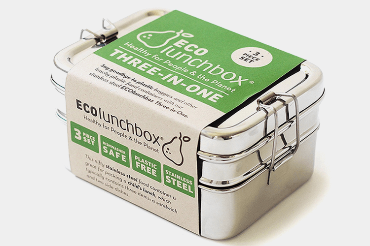ECOLunchbox 3-in-1 Steel Food Container