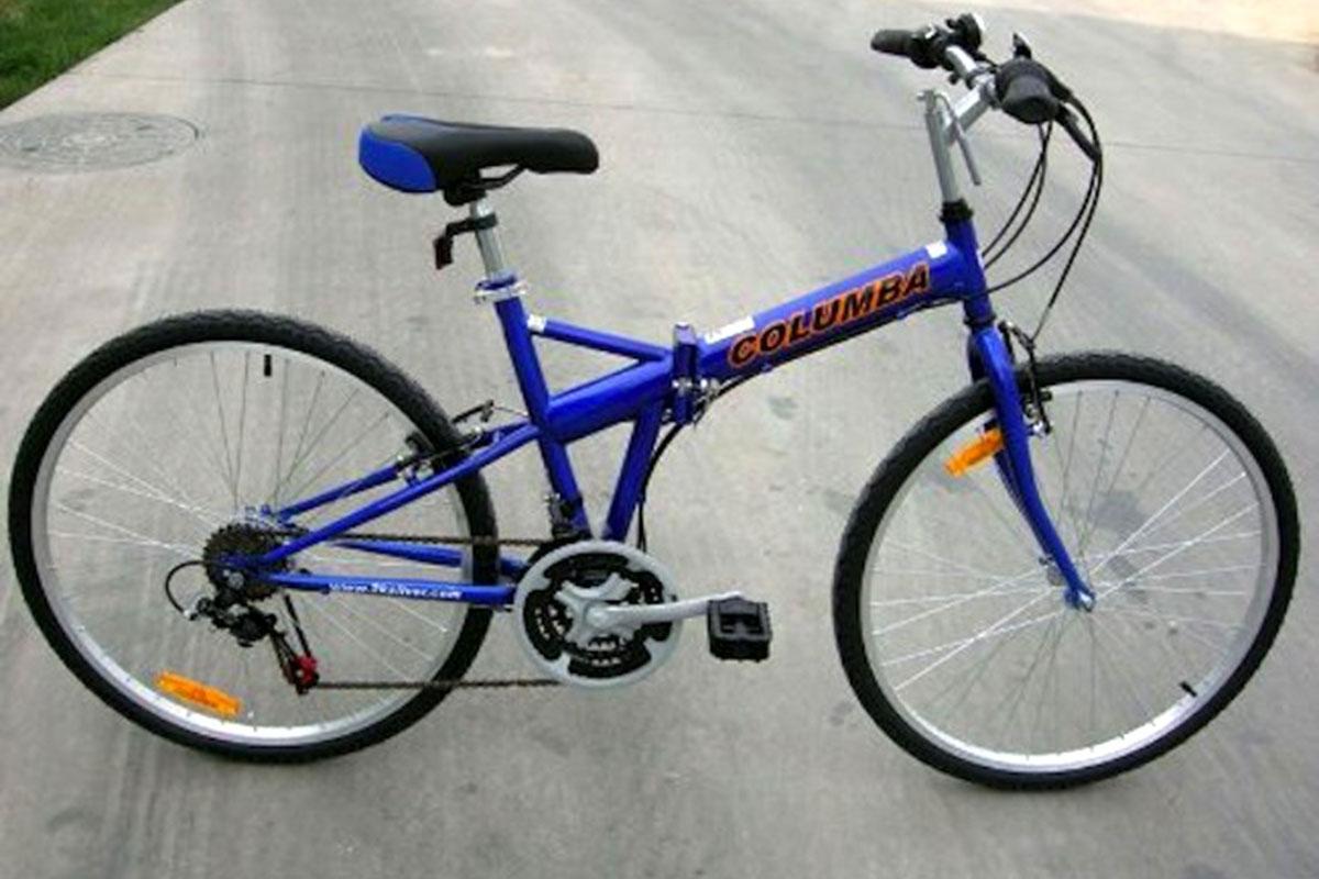 Columba SP26S_BLU 26-Inch Folding Bike