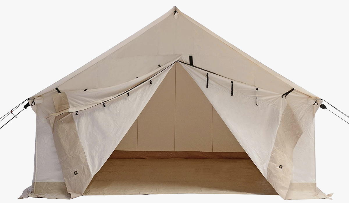 white duck alpha wall canvas tent