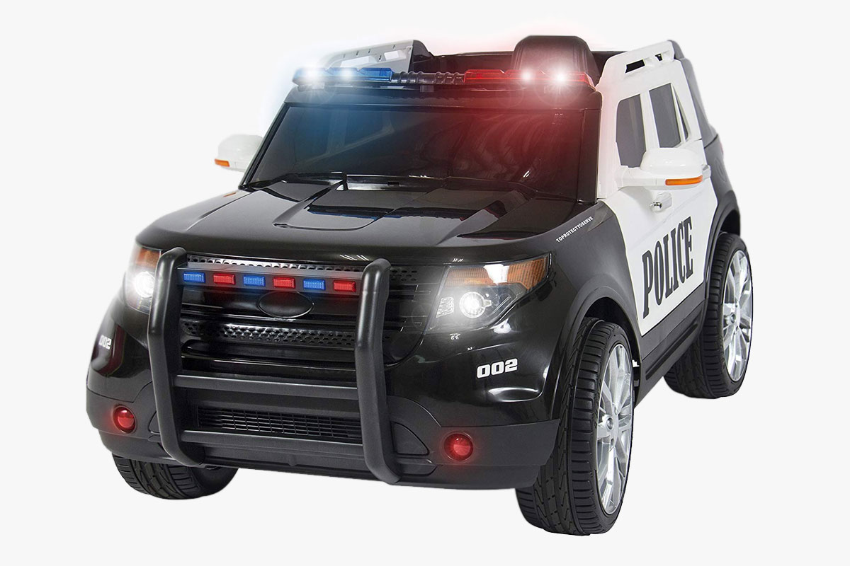 Best Choice Products Kids 12V Electric Police Ride-On SUV with RC