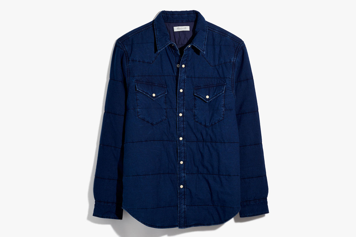 Madewell Mens Quilted Shirt Jacket